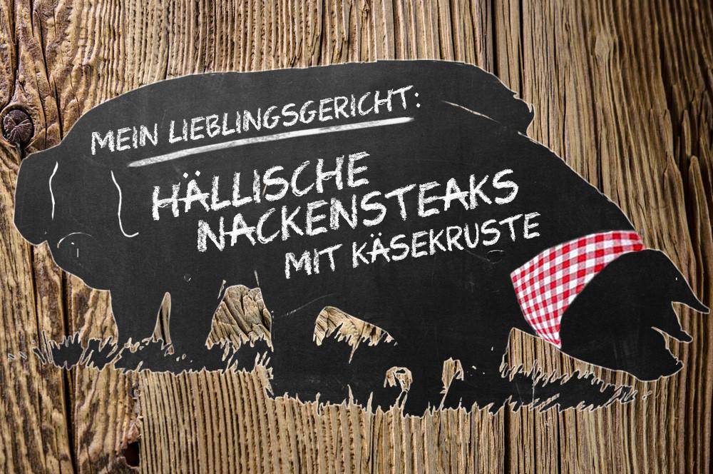 Serie (6): Panierte Schwäbisch Hällische Nackensteaks mit Grana-Padano-Kruste